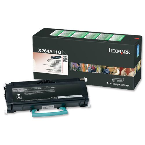Lexmark X264/X363/X364 Laser Toner Cartridge Return Programe Page Life 3500pp Black Ref X264A11G
