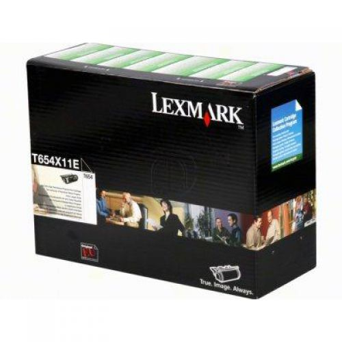 Lexmark T654 Laser Toner Cartridge Return Programme Extra High Yield Page Life 36000pp Black Ref T654X11E