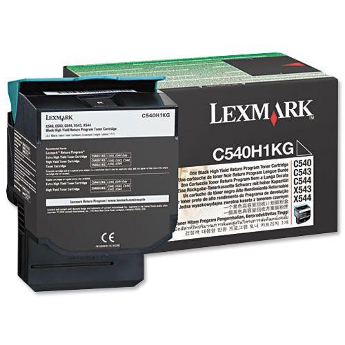 Lexmark C54/X54 Laser Toner Cartridge Return Programme High Yield Page Life 2500pp Black Ref C540H1KG