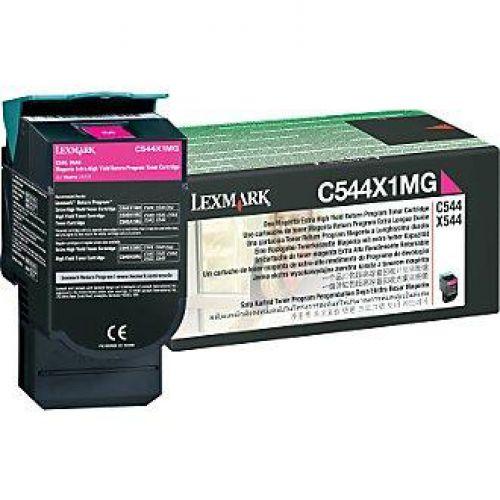 Lexmark C544/X544 Laser Toner Cartridge RP Extra High Yield Page Life 4000pp Magenta Ref C544X1MG