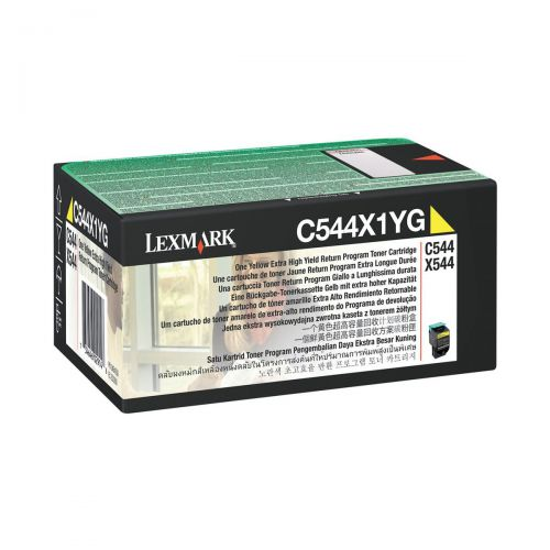 Lexmark C544/X544 Laser Toner Cartridge RP Extra High Yield Page Life 4000pp Yellow Ref C544X1YG
