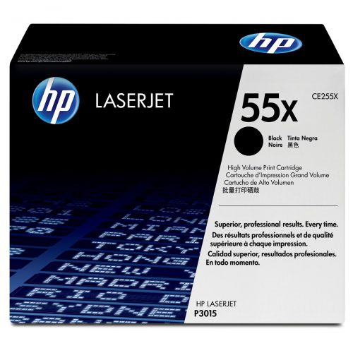 HP 55X Laser Toner Cartridge High Yield Page Life 12500pp Black Ref CE255X