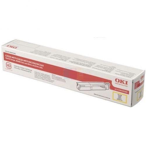OKI Laser Toner Cartridge Page Life 2500pp Yellow Ref 43459369