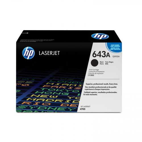 HP 643A Laser Toner Cartridge Page Life 11000pp Black Ref Q5950A