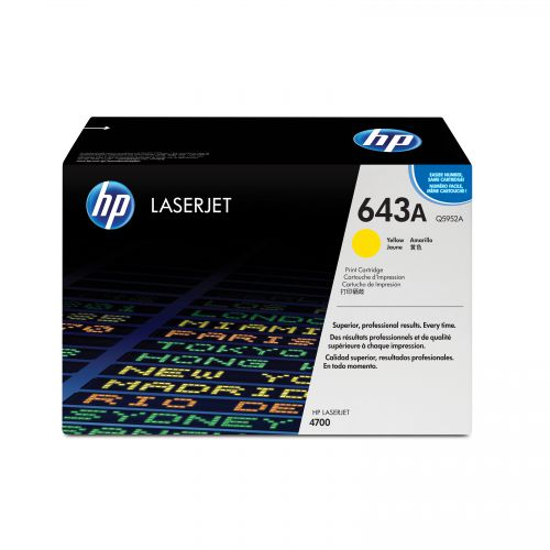 HP 643A Laser Toner Cartridge Page Life 10000pp Yellow Ref Q5952A