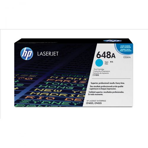 HP 648A Laser Toner Cartridge Page Life 11000pp Cyan Ref CE261A