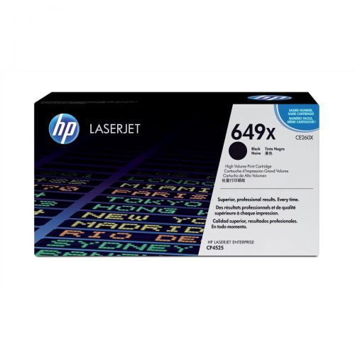 HP 649X Laser Toner Cartridge High Yield Page Life 17000pp Black Ref CE260X