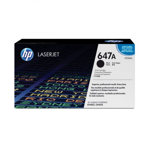HP 647A Laser Toner Cartridge Page Life 8500pp Black Ref CE260A