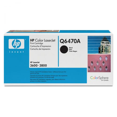 HP 501A Laser Toner Cartridge Page Life 6000pp Black Ref Q6470A