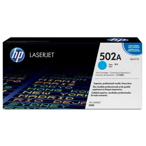 HP 502A Laser Toner Cartridge Page Life 4000pp Cyan Ref Q6471A