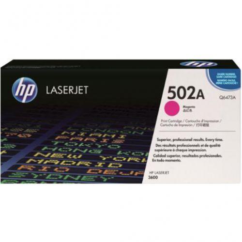 HP 502A Laser Toner Cartridge Page Life 4000pp Magenta Ref Q6473A