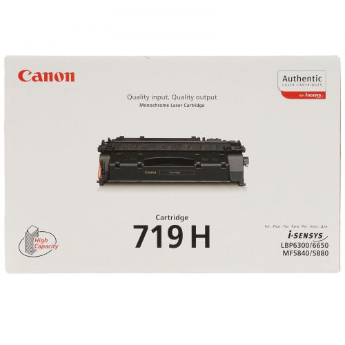 Canon CRG-719H Laser Toner Cartridge High Yield Page Life 6400pp Black Ref 348B002AA