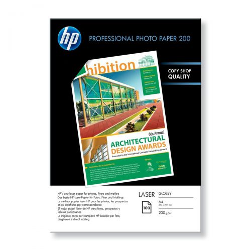 Hewlett Packard [HP] Professional Laser Paper Glossy 200gsm A4 Ref CG966A [100 Sheets]