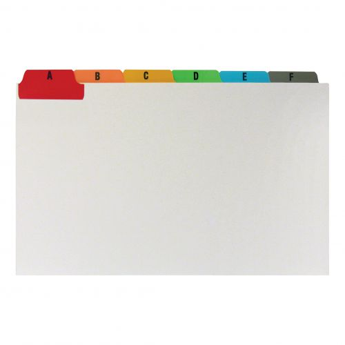 5 Star Office Guide Card Set A-Z Reinforced 8x5in 203x127mm White with Tabs Multicoloured