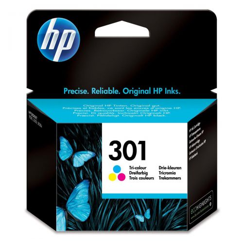 Hewlett Packard [HP] No.301 Inkjet Cartridge Page Life 165pp 3ml Tri-Colour Ref CH562EE