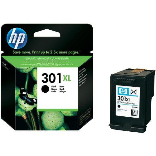 Hewlett Packard [HP] No.301XL Inkjet Cartridge High Yield Page Life 480pp 8ml Black Ref CH563EE