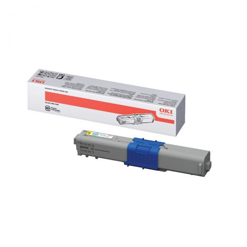 OKI Laser Toner Cartridge High Yield Page Life 5000pp Yellow Ref 44469722