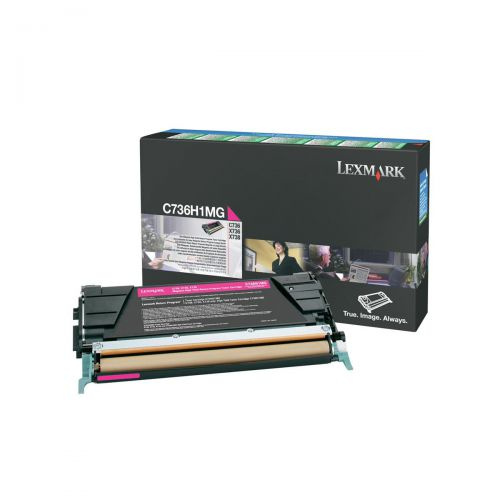 Lexmark C736/X736/X738 Laser TonerCart HighYield Return Programme Page Life 10000pp Magenta Ref C736H1MG