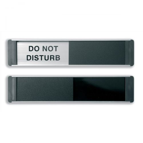 Stewart Superior Do Not Disturb Sliding Door Plate Panel Aluminium/PVC W255xH52mm Self-adhesive Ref BA104