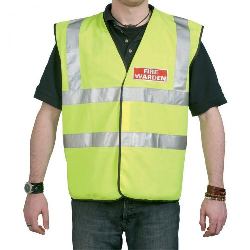 Fire Warden Vest High Visibility Yellow Vest Extra Large Ref WG30106