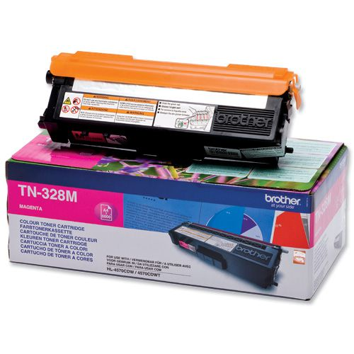 Brother Laser Toner Cartridge Super High Yield Page Life 6000pp Magenta Ref TN328M