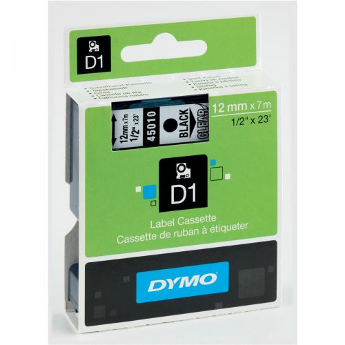 Dymo 4500 Black/Clear Tape 45010