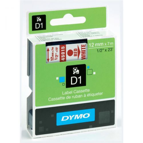 Dymo 4500 Red/White Tape 45015