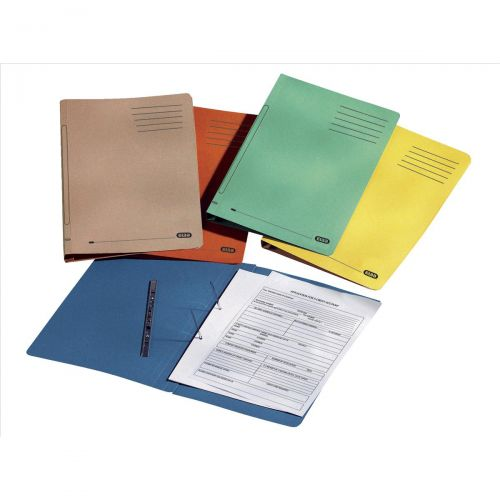 Elba Ashley Flat Bar File (no pocket) 285gsm Capacity 35mm Foolscap Buff Ref 100090153 [Pack 25]
