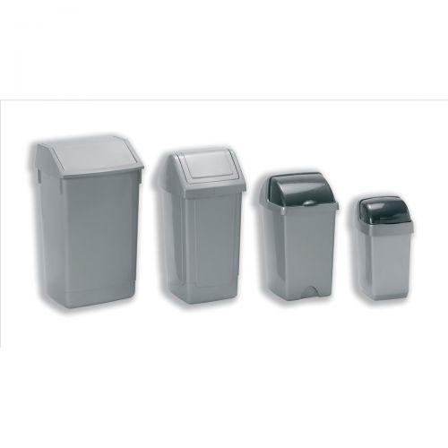 Flip Top Bin Composite Plastic 60 Litres Metallic