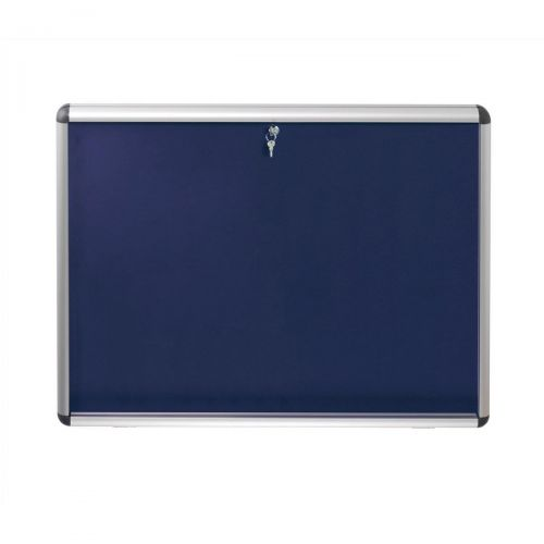 Nobo Display Cabinet Noticeboard Visual Insert Lockable A0 W1255xH965mm Blue Ref 1902049