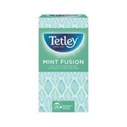 Tetley Individually Enveloped Mint Fusion Tea Bags Finest European-sourced Ref 1576a [Pack 25]