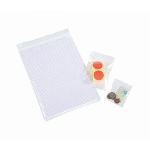 Grip Seal Polythene Bags Resealable Plain 40 Micron 102x140mm PG6 [Pack 1000]