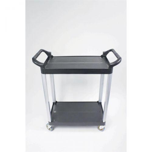 5 Star Facilities Utility Tray Trolley Standard 2 Shelf Capacity 100kg W460xD750xH940mm