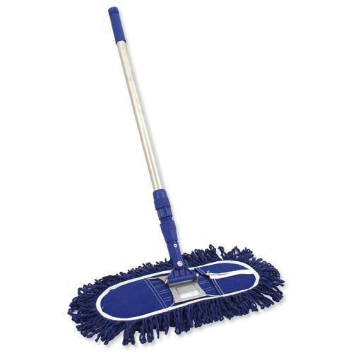 Bentley Dustbuster Sweeper with Telescopic Handle (60cm Blue head) Ref SPC/DB60
