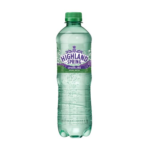 Highland Spring Water Sparkling Bottle Plastic 500ml Ref N007865 [Pack 24]