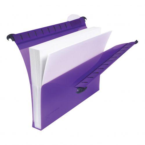 Rexel Multifile Extra Suspension File Polypropylene 30mm Wide-base Foolscap Assorted Ref2102574 [Pack 10]
