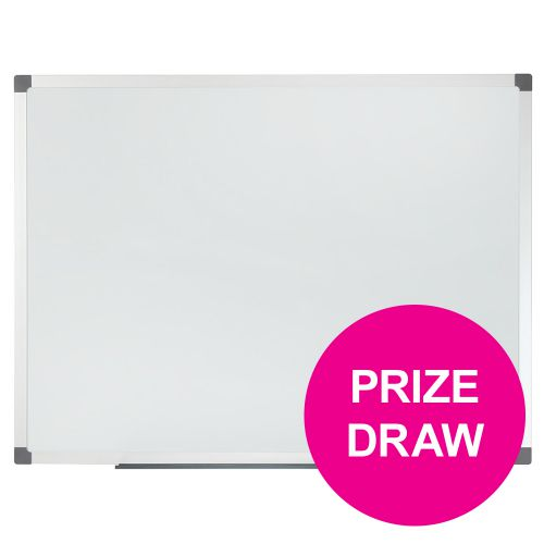 Nobo Classic Drywipe Board Magnetic with Fixings 1800x900mm Aluminium Ref 1902645