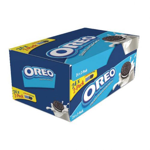 Oreo Mini Biscuits Chocolate-flavoured Sandwich with White Filling Twin Pack Ref A03275 [Pack 24]