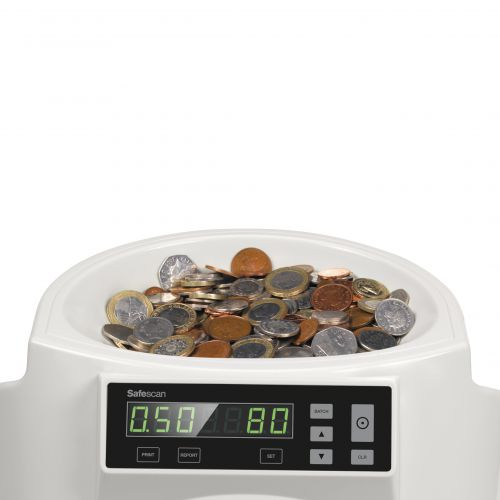 Safescan 1250 GBP Coin Counter and Sorter For Sterling Grey Ref 113-0568