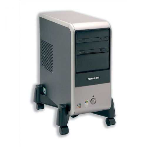Mobile CPU Stand Black 105x420x87mm Ref CCS55143