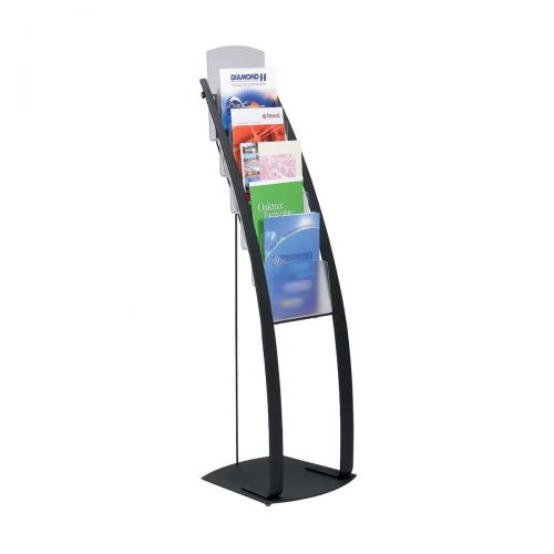 Deflecto Contemporary Floor Stand 6 Pkt