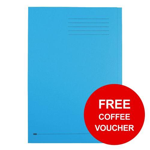 Elba StrongLine Square Cut Folder 320gsm 32mm Foolscap Blue Ref 100090020 [Pack 50] [REDEMPTION]