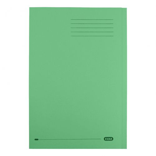 Elba StrongLine Square Cut Folder 320gsm 32mm Foolscap Green Ref 100090022 [Pack 50]