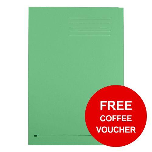 Elba StrongLine Square Cut Folder 320gsm 32mm Foolscap Green Ref 100090022 [Pack 50] [REDEMPTION]