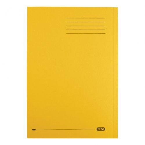 Elba StrongLine Square Cut Folder 320gsm 32mm Foolscap Yellow Ref 100090023 [Pack 50]
