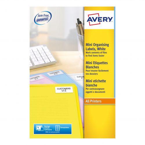 Avery Mini Multipurpose Labels Laser 84 per Sheet 35mm Film Slides 46x11.1mm Ref L7656-25 [2100 Labels]