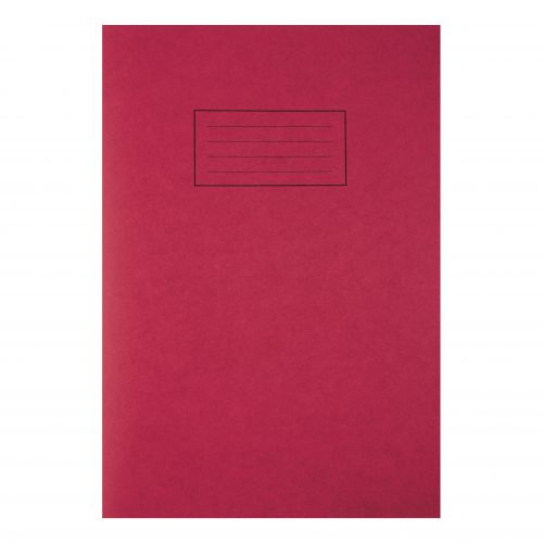 Silvine Exercise Book Ruled and Margin 80 Pages 75gsm A4 Red Ref EX107 [Pack 10]