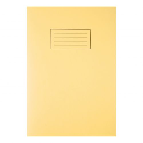 Silvine Exercise Book Ruled and Margin 80 Pages 75gsm A4 Yellow Ref EX109 [Pack 10]