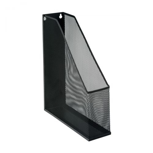 5 Star Office Mesh Magazine Rack Scratch Resistant with Non Marking Rubber Pads A4 Plus Black