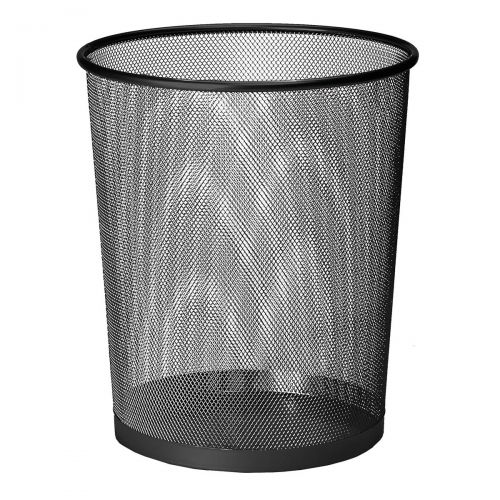 5 Star Office Mesh Waste Bin Lightweight Sturdy Scratch Resistant 15-20 Litres DxH 305x345mm Black